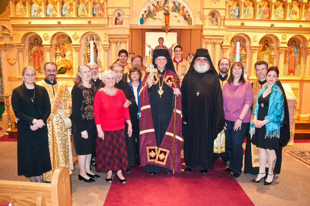 Bishop Anthony at Saint George Church.